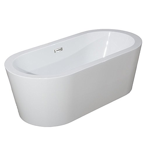 Woodbridge 67″ B-0002 Acrylic Freestanding Bathtub Contemporary Soaking Tub