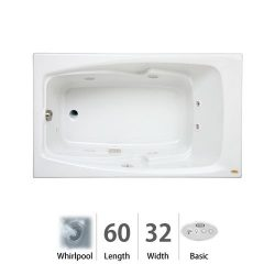Cetra 60″ x 32″ Whirlpool Bathtub Color: White