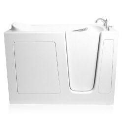 Ariel EZWT-3060-SOAKER-R Walk in Bathtub Right Side Drain, 60″L x 37″H x 30″W, ...