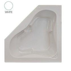 Jacuzzi J5D6060 BCX XXX Signature 60″ Corner Soaking Bathtub with Center Drain, White