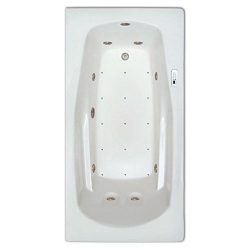 Signature Bath LPI19-C-RD Drop-In Air & Whirlpool Bathtub with Waterfall & Led Lighting  ...