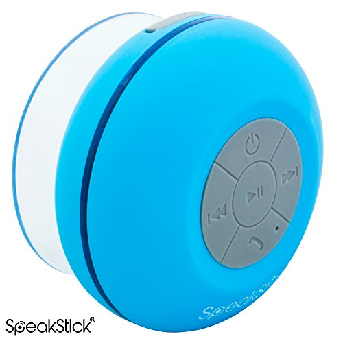 Speakstick LED Wireless Shower Speaker with 3.0 Bluetooth Technology for the Shower, Pool, Beach ...