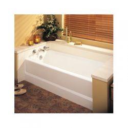 Everyday Essentials 60″ x 30″ Soaking Bathtub Configuration: Right, Finish: White