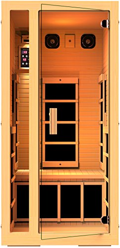 JNH Lifestyles Joyous 1 Person Far Infrared Sauna 6 Carbon Fiber Heaters, 5 Year Warranty