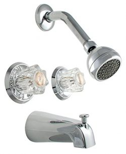 LDR 011 8700 Double Handle Tub and Shower Faucet, Chrome