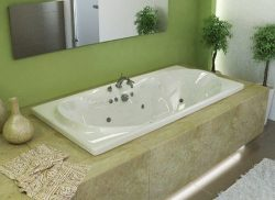 Atlantis Whirlpools 4272wdr Whisper Rectangular Air & Whirlpool Bathtub, 42 X 72, Center Dra ...