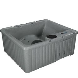 Essential Hot Tubs – Newport – 14 Jets, Lounger Rotationally Molded, Grey Granite