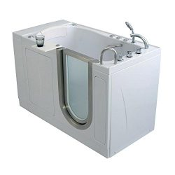 Ella AH3168 Petite Air Massage+Heated Seat Acrylic Walk-in Bathtub with Right Inward Swing Door, ...