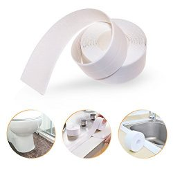 Bathtub Caulk Strip PE Self Adhesive Tub and Wall Sealing Tape Caulk Sealer, 1-1/2″ x 11&# ...