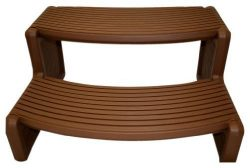 QCA Spas HS2-R Handi Spa Step, 29 by 14-Inch, Red Wood