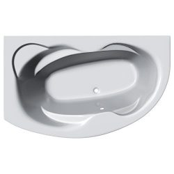 Eclipse Bathroom Corner Bath Tub 5mm Acrylic & Front Panel 1500mm x 1000mm (Left Hand) by JT ...