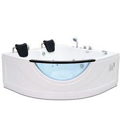 Homeward Bath's Chelsea 2 Person Corner Water Massage Tub