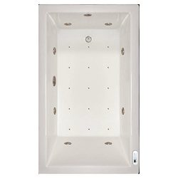 Signature Bath LPI18-C-RD Drop-In Air & Whirlpool Bathtub with Waterfall & Led Lighting  ...