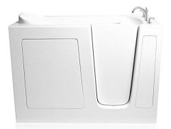 48″ x 29″ Dual Air and Whirlpool Walk-In Bathtub Drain Location: Right