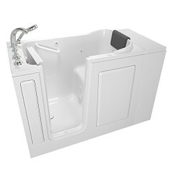 American Standard 2848.109.WLW Gelcoat Premium Series 28″ x 48″ Walk-In Bathtub with ...