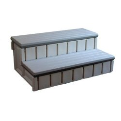 Confer Plastics Spa Step with Storage – Gray