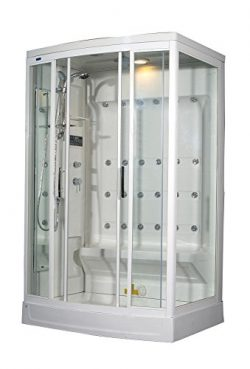 Aston ZA219-L 24 Body Jets Steam Shower, Left Hand, 52-Inch x 40-Inch x 85-Inch, White