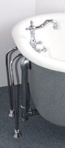 Clawfoot Tub Filler with a Short Gooseneck Spout with Drain &Supplies