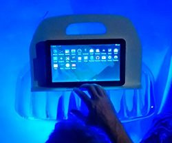 AquaReader Floating Book/Tablet Caddy for Bath, Pool, and Hot Tub (Blue)
