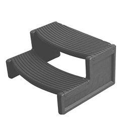 Confer Plastics Resin Multi Purpose Spa Hot Tub Handi-Step Steps, Gray | HS2-LBG