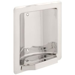 FRANKLIN BRASS 5566 Century, Bath Hardware Accessory, Recessed Soap or Tumbler Holder, Bright St ...