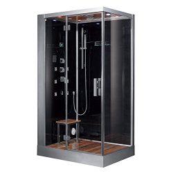 Ariel Platinum DZ959F8-BLK-L Steam Shower, Left Configuration, 47 x 35 x 89