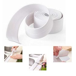 Bathtub Caulk Strip PE(Polyethylene) Waterproof Self Adhesive Tub, Kitchen Caulk Tape and Bathro ...