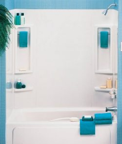 ASB 39240 Vantage Tub Wall, White, 5-Piece