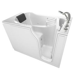 American Standard 3052.109.CRW Gelcoat Premium Series 30″ x 52″ Walk-In Bathtub with ...