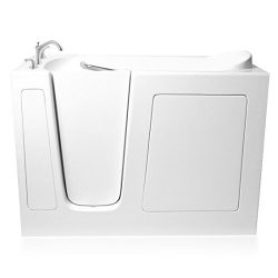 Ariel EZWT-3060- Soaker-L Bath White Walk-In Bathtub Left Side Drain, 60″ L x 30″ W