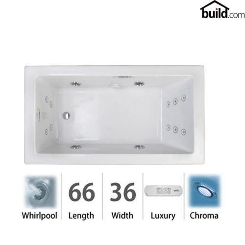 Jacuzzi Ela6636wrl4ch Elara 66 Quot Acrylic Whirlpool Bathtub