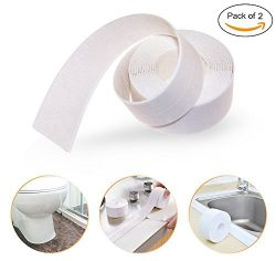 Loobani PE Bathtub Counter Caulk Strip Seal For Bath Tub Kitchen, Shower Toilet Wall Sealant, Fl ...
