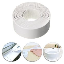 Sumnacon Bathtub PE Caulk Strip, Self Adhesive Waterproof Flexible Sealing Tape For Bathtub,Sink ...