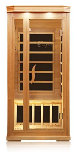 Empava 1-2 Person Far Infrared Sauna 6 Carbon Fiber Heaters Canadian Hemlock Wood Dry Sauna Room ...
