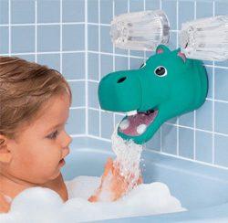 Hippo or Elephant Bath Tub Faucet Spout Cover Protector Guard & Bubble Dispenser Model Sudsy ...