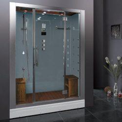 Ariel Platinum DZ972-1F8-W Steam Shower in White 59″ x 32″ x 87.4″