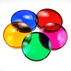 5 Colored Lens Cover Caps for Hot Tub Spa Light – Snap on Red, Blue, Green, Purple, Amber