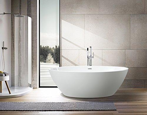 Vanity Art Bath Free Standing Acrylic Bathtub 68 9 Quot Wx39 4