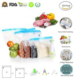 Sous Vide Bags Essentials Kit for Anova Cooker, Reusable Food Storage Freezer and Water Cooking  ...