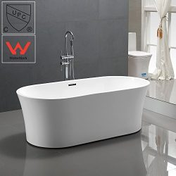 KIVA RHYME 67″ Freestanding Bathtub, 100% Pure Acrylic Soaking Bath Tub for Bathroom, cUPC ...