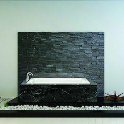 Fine Fixtures Drop In & Alcove White Soaking Bathtub, Fiberglass Acrylic Material, Exclusive ...