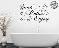 Wall Sticker Decorative Wall Mural Removable Vinyl Stickers Bathroom Home Decals (Black)