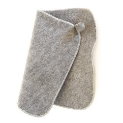 Felt Sauna Seat Pad (Grey)