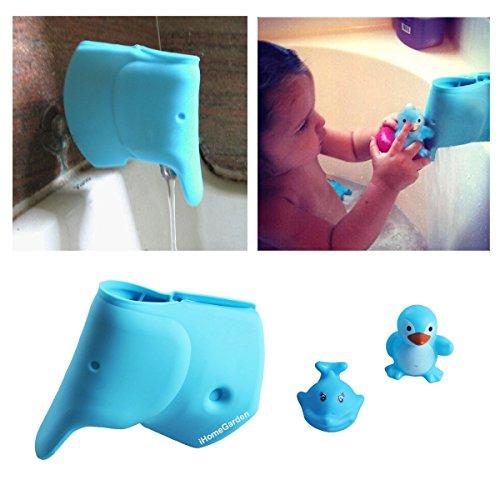 Baby Blue Bathroom Set: Bathtub Spout Cover For Kids