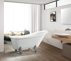 "Vanity Art Bath Free Standing Acrylic Bathtub Dimension: 67""W x 31.5""D x29.5""H VA6310-L"