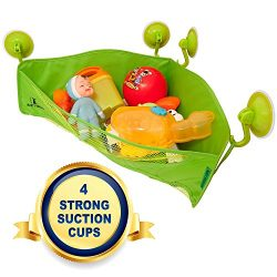 Bath Toy Organizer – 4 Strong Suction Cups – Bathtub Toys Holder Storage Net – ...