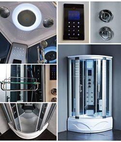Steam Spa Sauna Shower Enclosure Hydro Massage Jets 1 Year Warranty 8002-A, Computer control pan ...