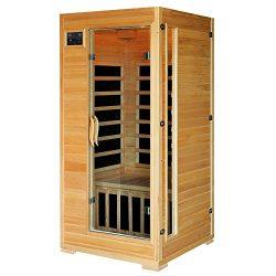1-2 Person Hemlock Infrared Sauna w/ 4 Carbon Heaters