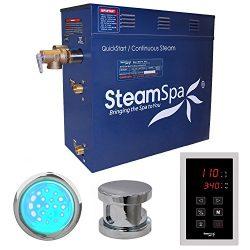 Steam Spa INT900CH Indulgence 9 KW Quick Start Acu-Steam Bath Generator Package, Chrome