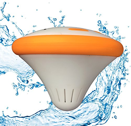 Cosmo The Floating Rechargeable Waterproof Bluetooth Speaker Orange With LED Color Changing Ligh ...
